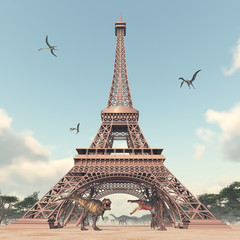 The dinosaurs in Paris