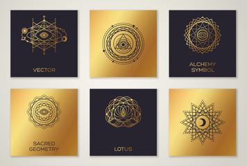 Black and Gold Alchemy Symbols