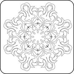 symmetry curves pattern