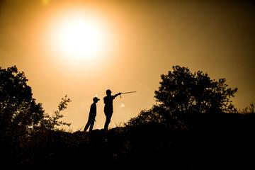 sunset model shooting