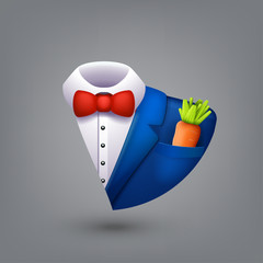 blue tuxedo symbol