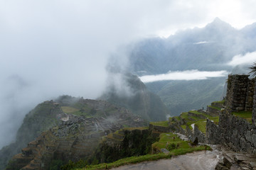 Machu Pichu in the Rain