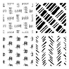 seamless hand drawn ink patterns