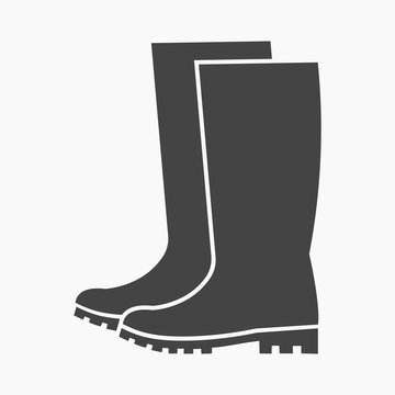 Rubber boots icon of vector illustration for web and mobile