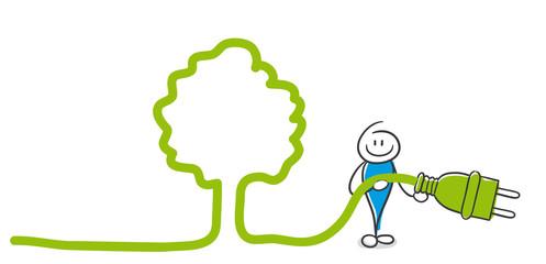Stick Figure Series Blue / Baum, Natur, ökologisch