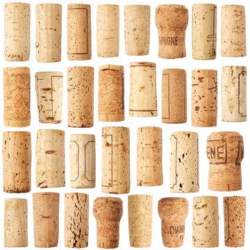 Set of wine cork