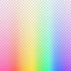 Transparent blurred background. Rainbow colored vctoe illustration on transparent background