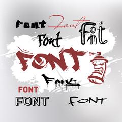 Font is graffiti