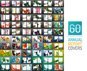 Mega collection of vector annual report covers