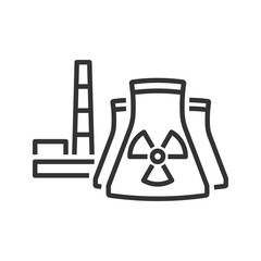 Nuclear power plant icon. Line style