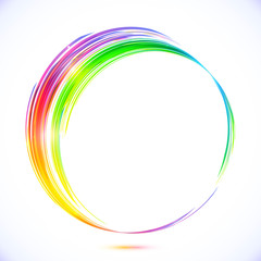 Rainbow vector abstract circle frame