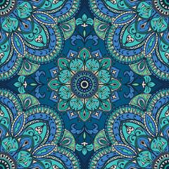Blue oriental ornament.