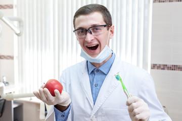 Young dentist portrait