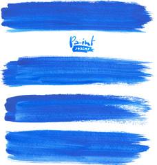 Deep blue watercolor brush strokes