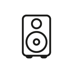 loudspeaker icon on white background