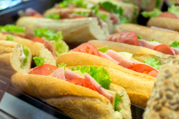 sandwiches in bakery
