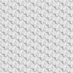 Seamless black and white pattern. Striped geometric background. Vector illustration.