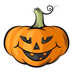 Funny Halloween Pumpkins contour color