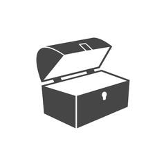 Treasure chest open vector icon