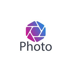 Simple modern abstract Photography logo design template
