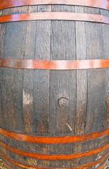 Wooden larger barrel closeup