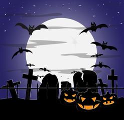 Halloween Cloudy Graveyard