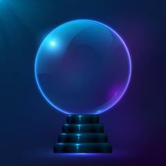 Blue vector magic spiritual ball