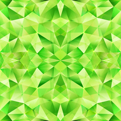 Green abstract crystal vector seamless pattern