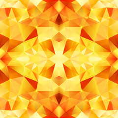 Orange crystal vector abstract seamless pattern