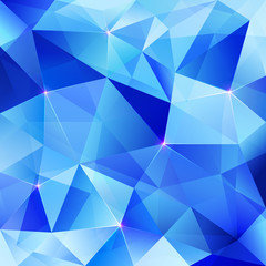 Blue abstract shining ice vector background
