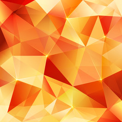 Orange crystal vector abstract pattern