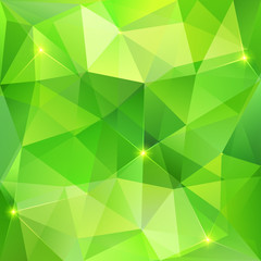 Green abstract crystal vector background