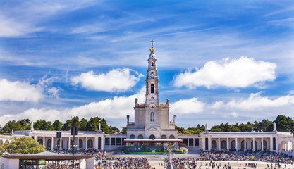 May 13th Celebration Mary Basilica of Lady of Rosary Fatima Portugal
