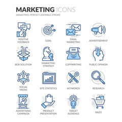 Line Marketing Icons