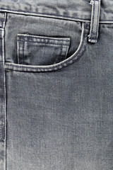 Front pocket of jeans.
