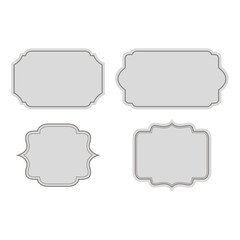 Set of retro labels, retro label on a white background