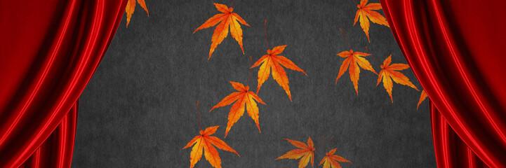 秋へ バナー カーテン