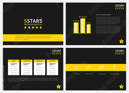 presentation vector layout for corporate documents report proposal