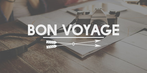 Bon Voyage Adventure Farewell Journey Transport Concept