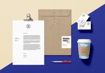 Stationery Branding Scene Mockup