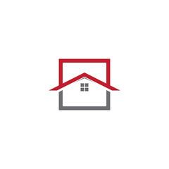 roof top home logo design concept vector template