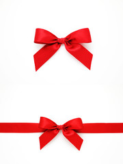 Red gift bows and ribbon