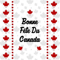 Happy Canada Day poster design template