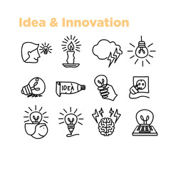 Idea and innovation  icon