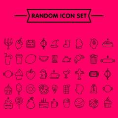 Random simple flat icon