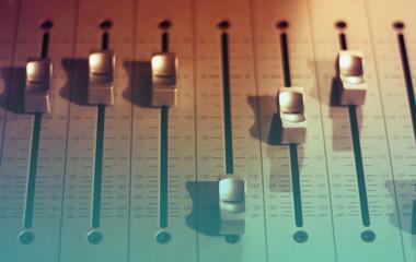 Professional audio studio sound mixer equipment console faders