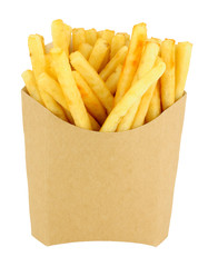 French Fries In A Cardboard Scoop