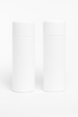blank packaging cosmetic tube isolated on white background