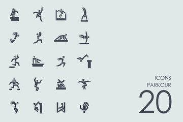 Set of parkour icons