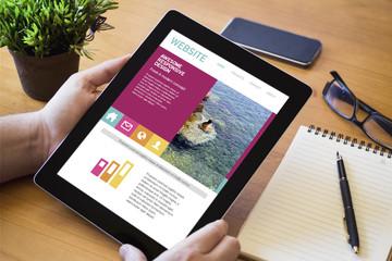 desktop tablet fresh design